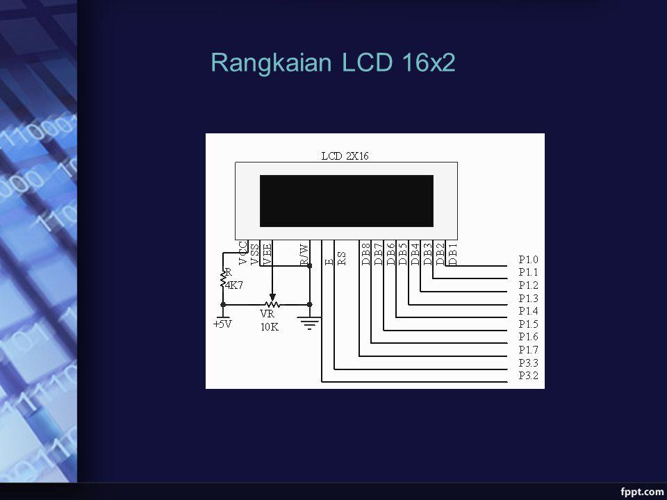 Rangkaian LCD 16x2