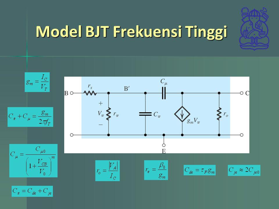 Model BJT Frekuensi Tinggi
