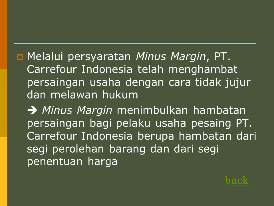 Melalui persyaratan Minus Margin, PT