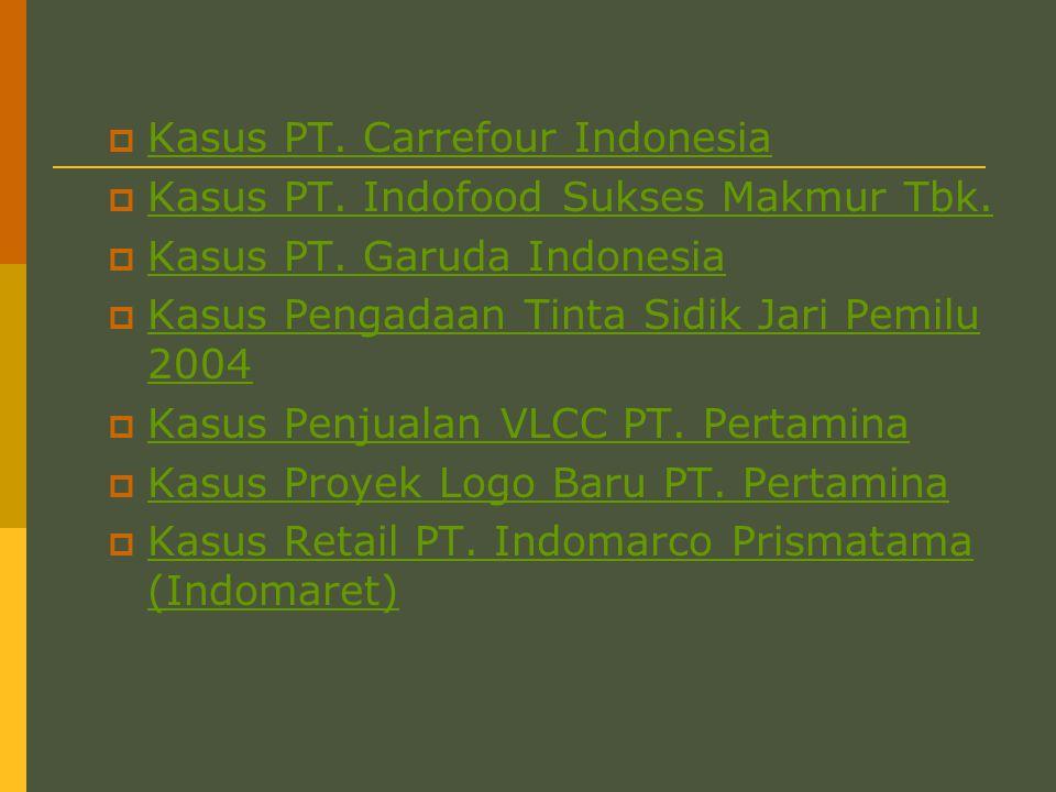Kasus PT. Carrefour Indonesia