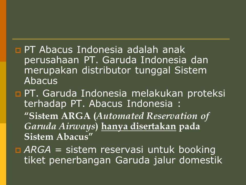 PT Abacus Indonesia adalah anak perusahaan PT