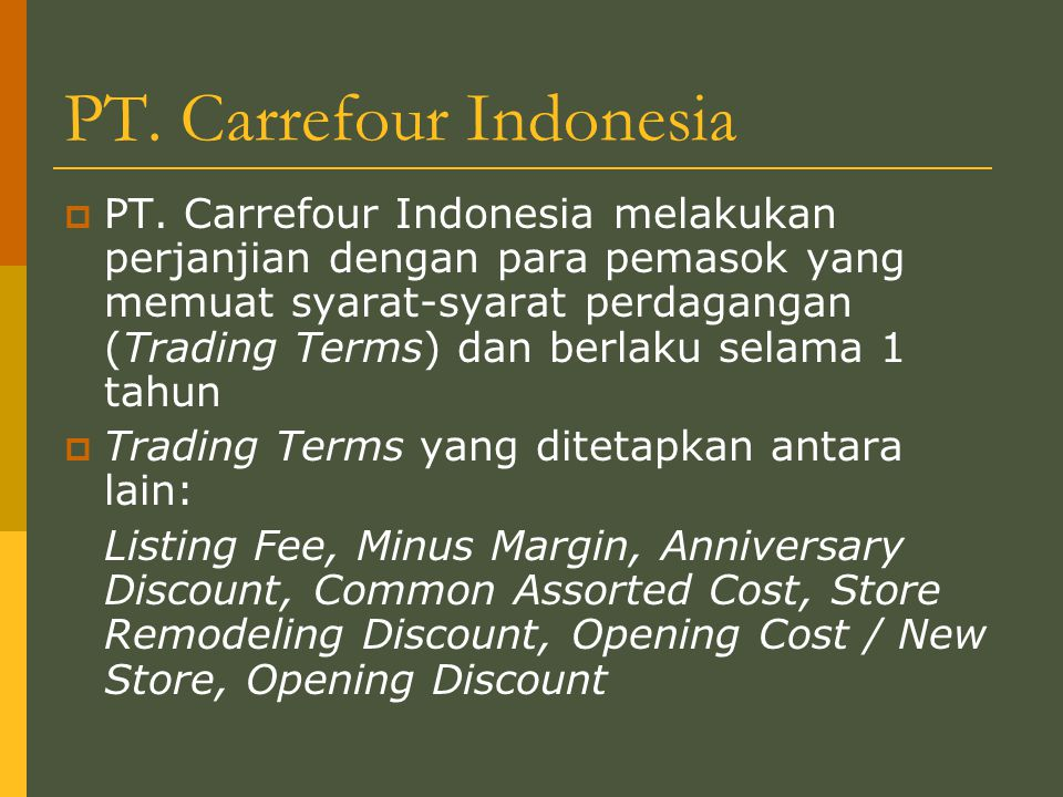 PT. Carrefour Indonesia