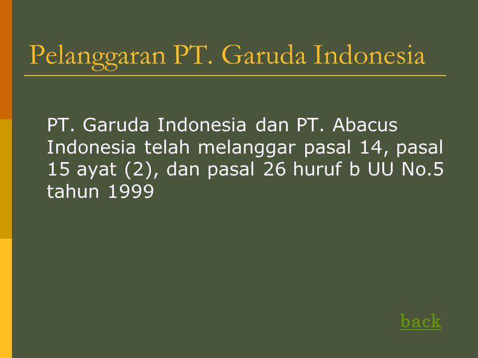 Pelanggaran PT. Garuda Indonesia