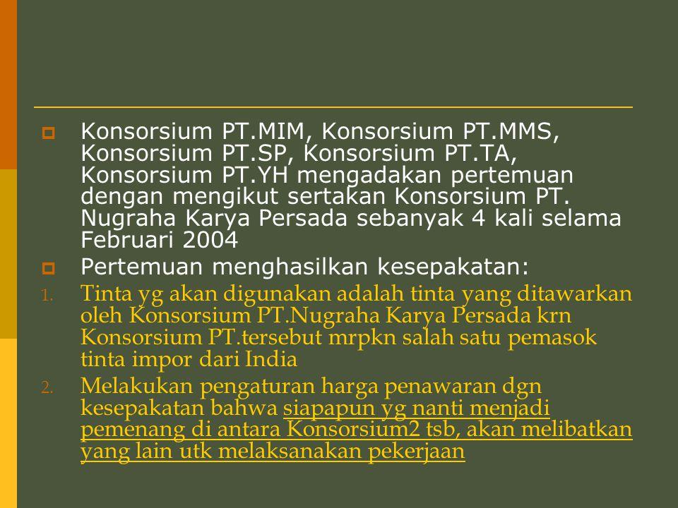 Konsorsium PT. MIM, Konsorsium PT. MMS, Konsorsium PT