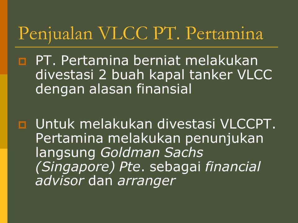 Penjualan VLCC PT. Pertamina