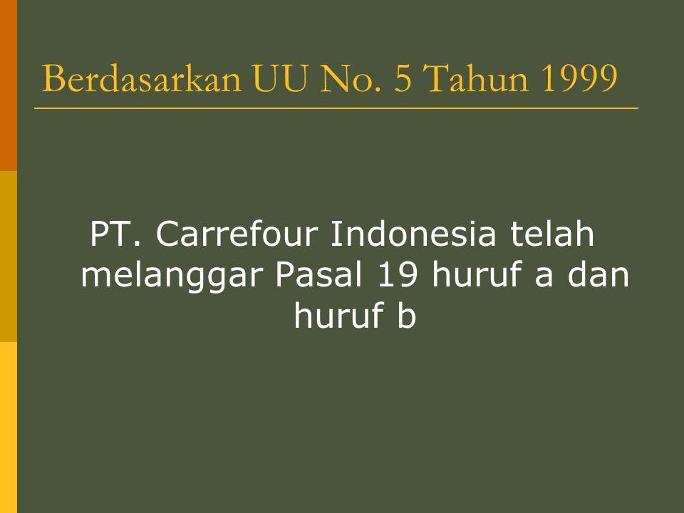 Berdasarkan UU No. 5 Tahun 1999