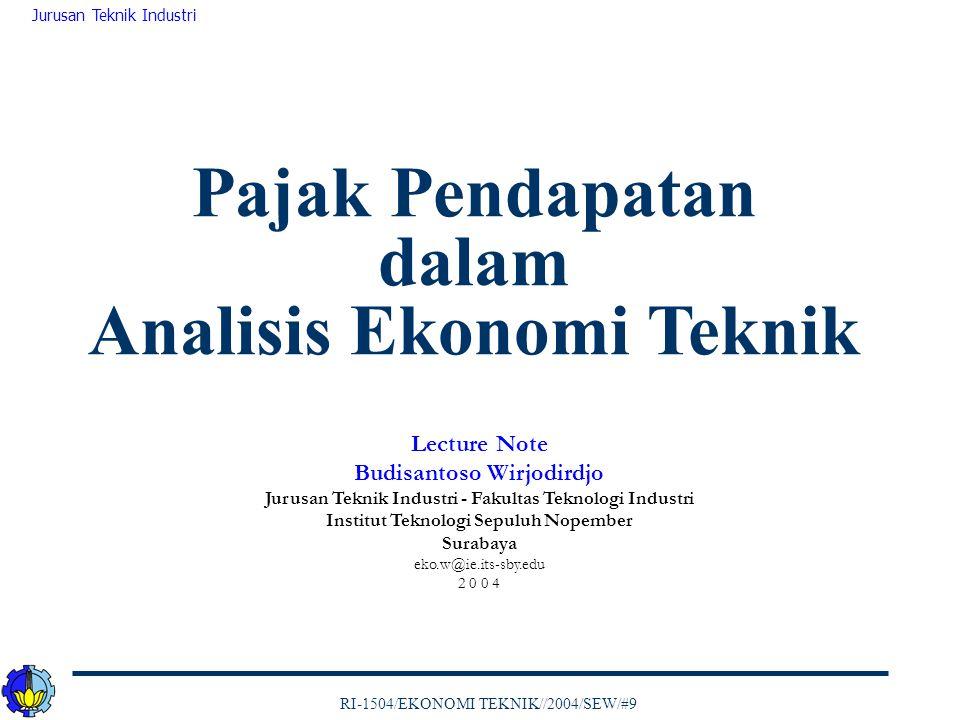 Pajak Pendapatan dalam Analisis Ekonomi Teknik