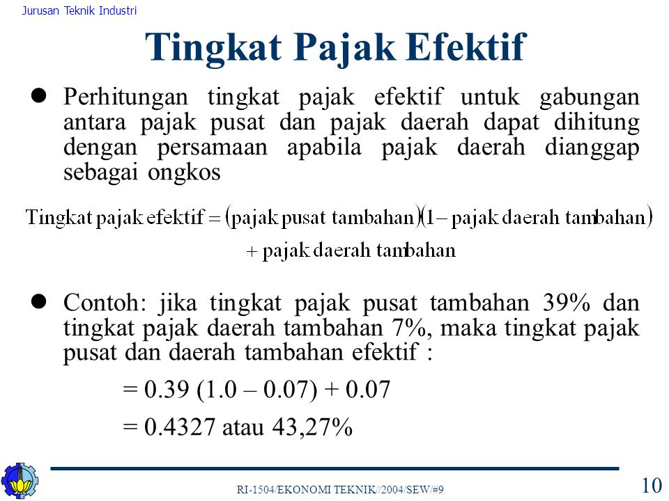 Tingkat Pajak Efektif