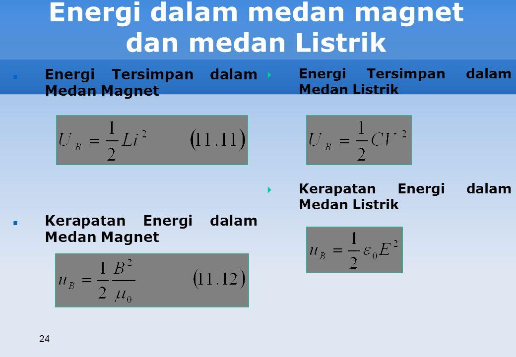 Energi dalam medan magnet dan medan Listrik