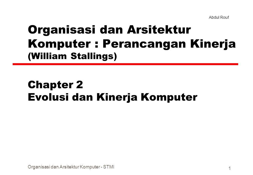 Chapter 2 Evolusi dan Kinerja Komputer