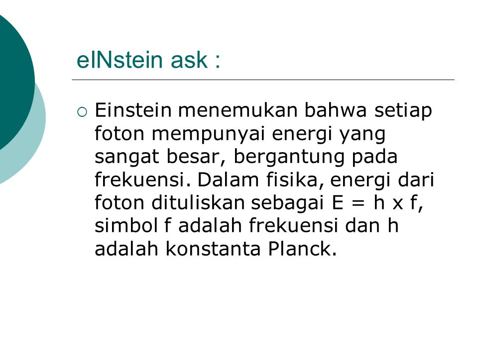 eINstein ask :