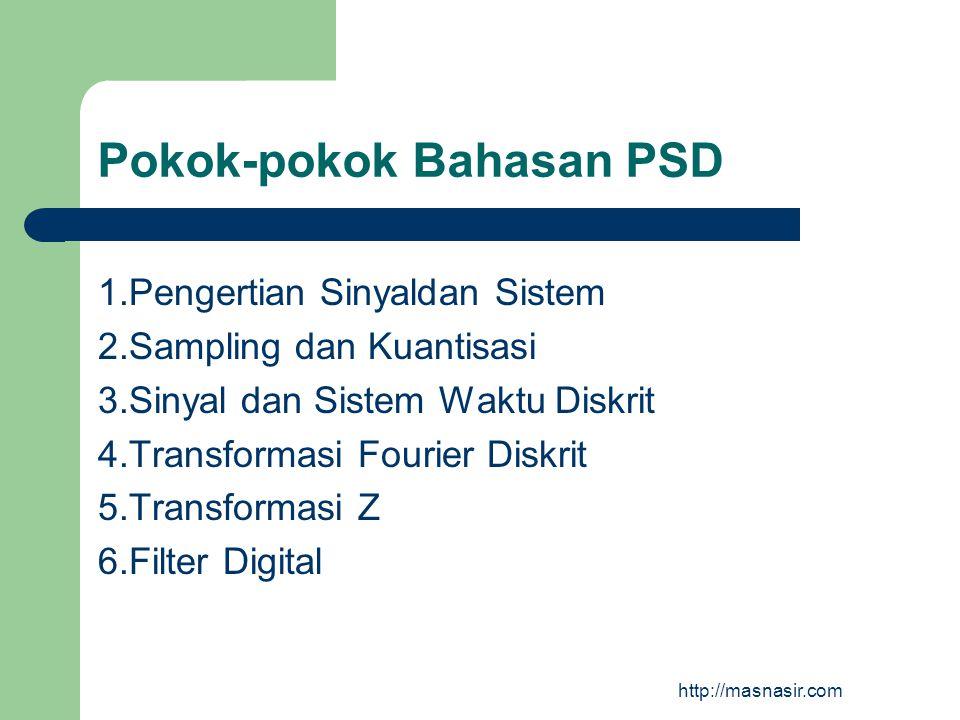 Pokok-pokok Bahasan PSD