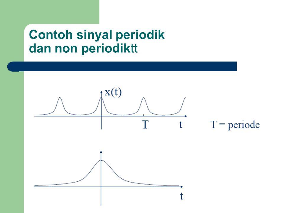 Contoh sinyal periodik dan non periodiktt
