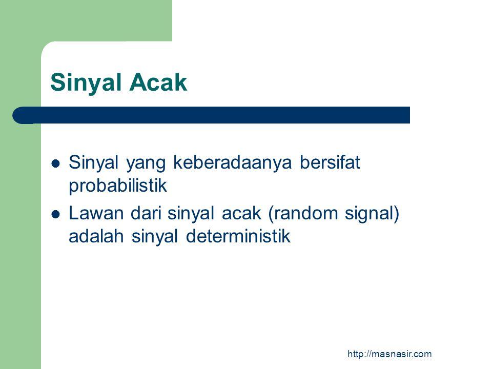 Sinyal Acak Sinyal yang keberadaanya bersifat probabilistik