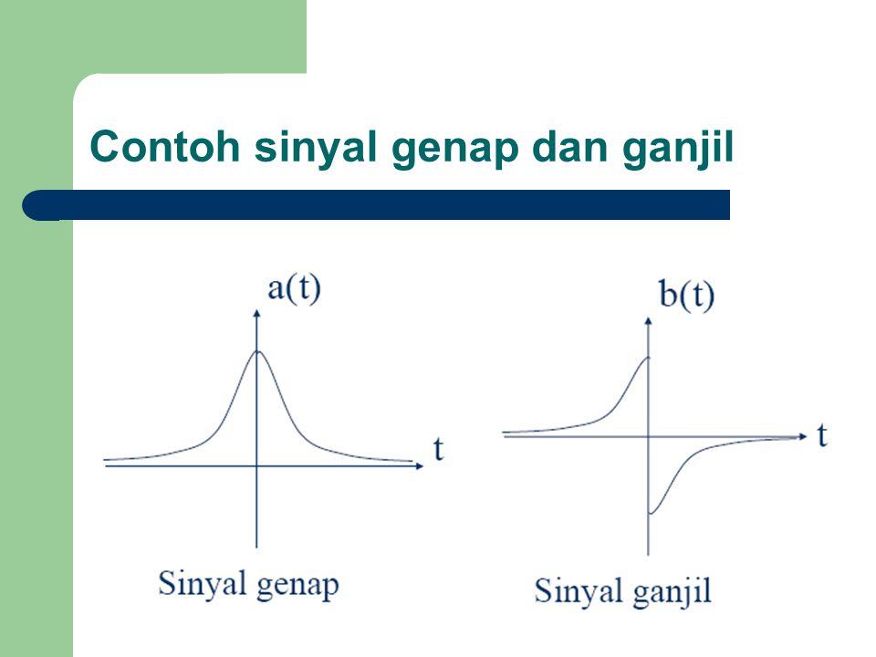 Contoh sinyal genap dan ganjil