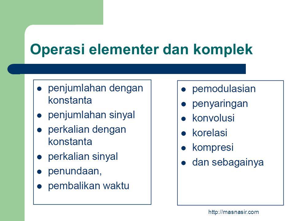Operasi elementer dan komplek