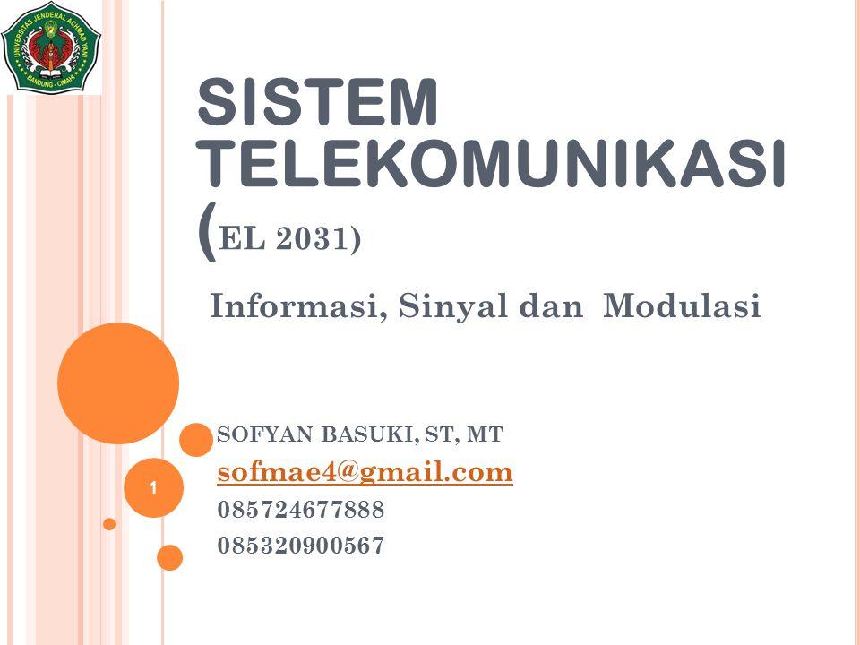 Informasi, Sinyal dan Modulasi