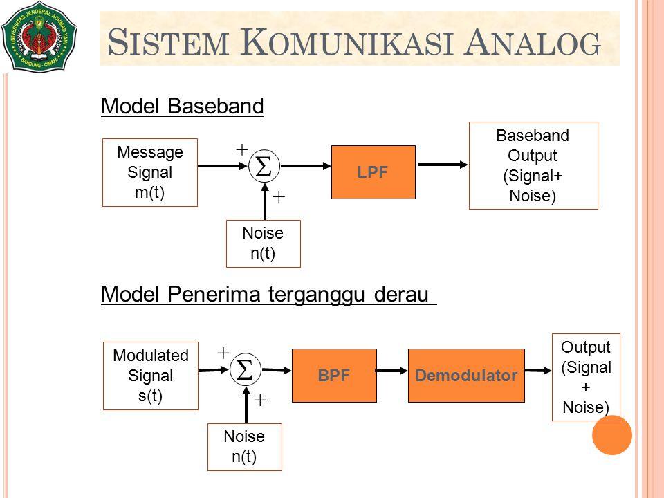 Sistem Komunikasi Analog