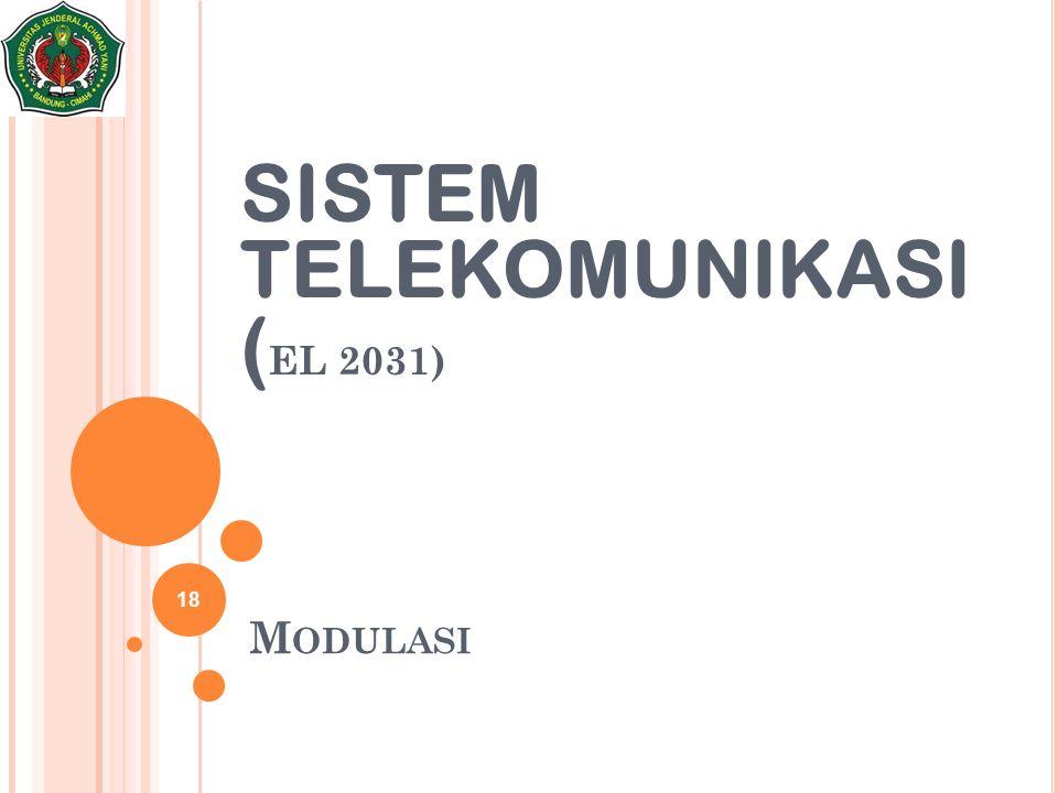 SISTEM TELEKOMUNIKASI (EL 2031)