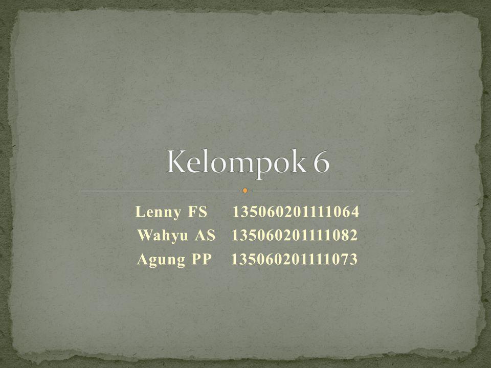 Kelompok 6 Lenny FS 135060201111064 Wahyu AS 135060201111082