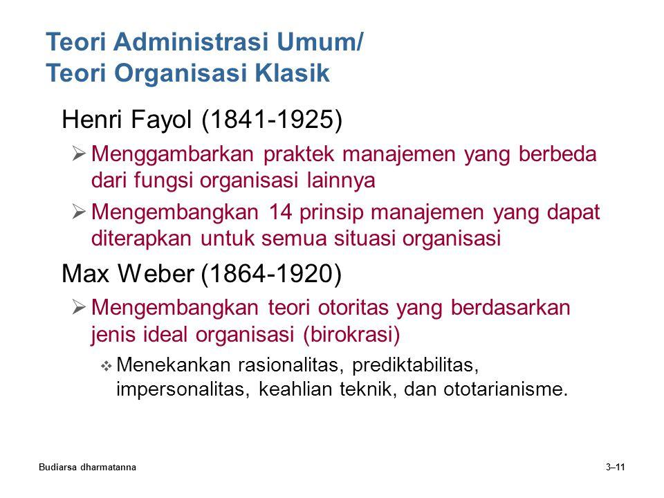 Teori Administrasi Umum/ Teori Organisasi Klasik