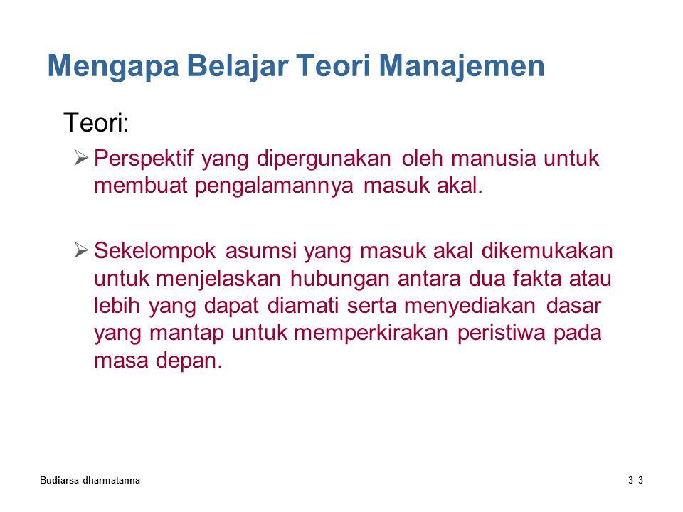 Mengapa Belajar Teori Manajemen