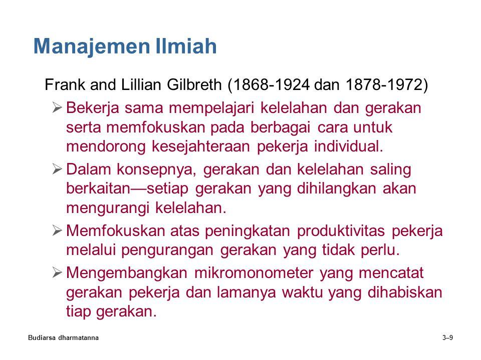 Manajemen Ilmiah Frank and Lillian Gilbreth (1868-1924 dan 1878-1972)