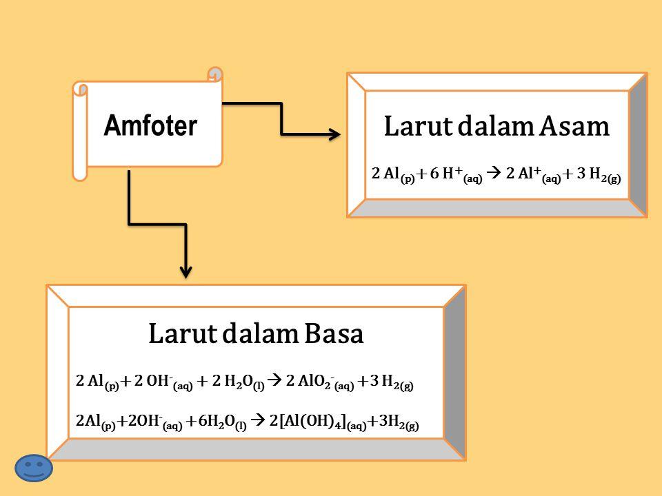 2 Al(p)+ 6 H+(aq)  2 Al+(aq)+ 3 H2(g)