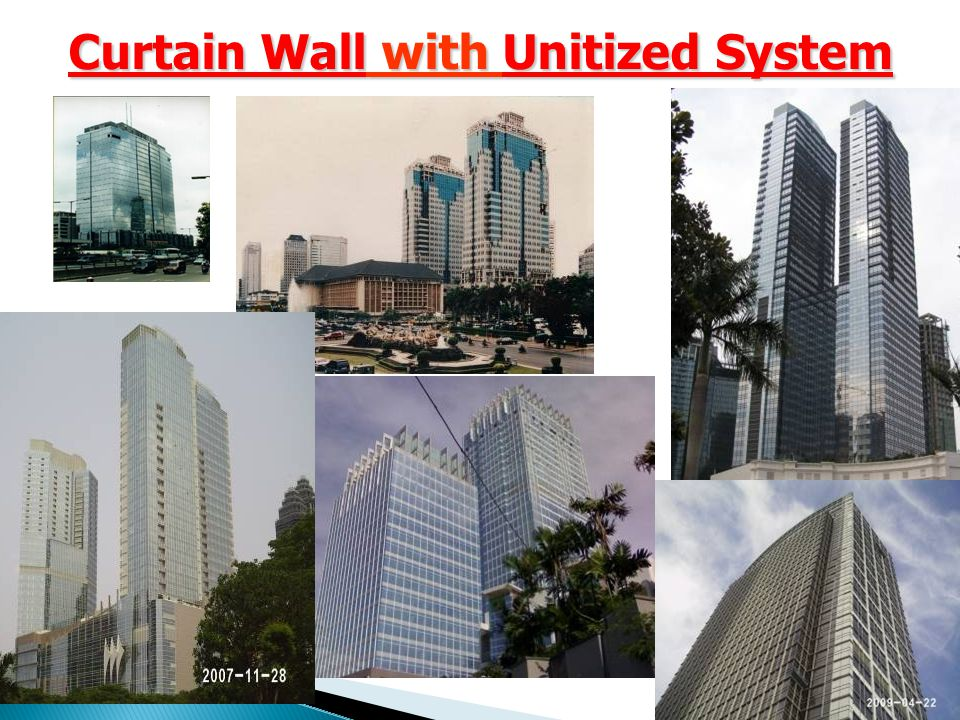 Curtain Wall with Unitized System