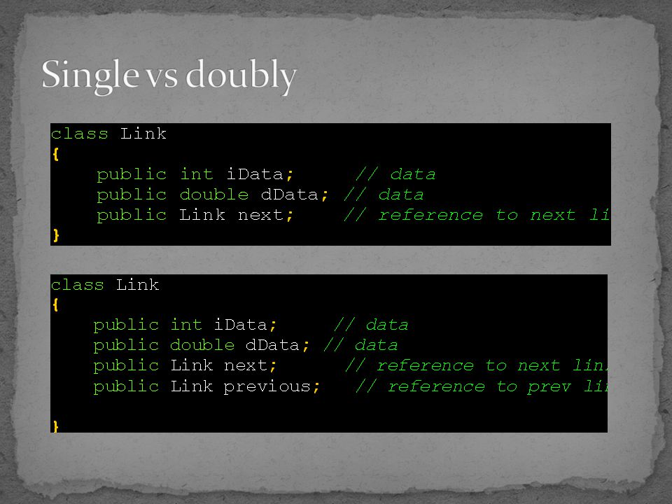 Single vs doubly