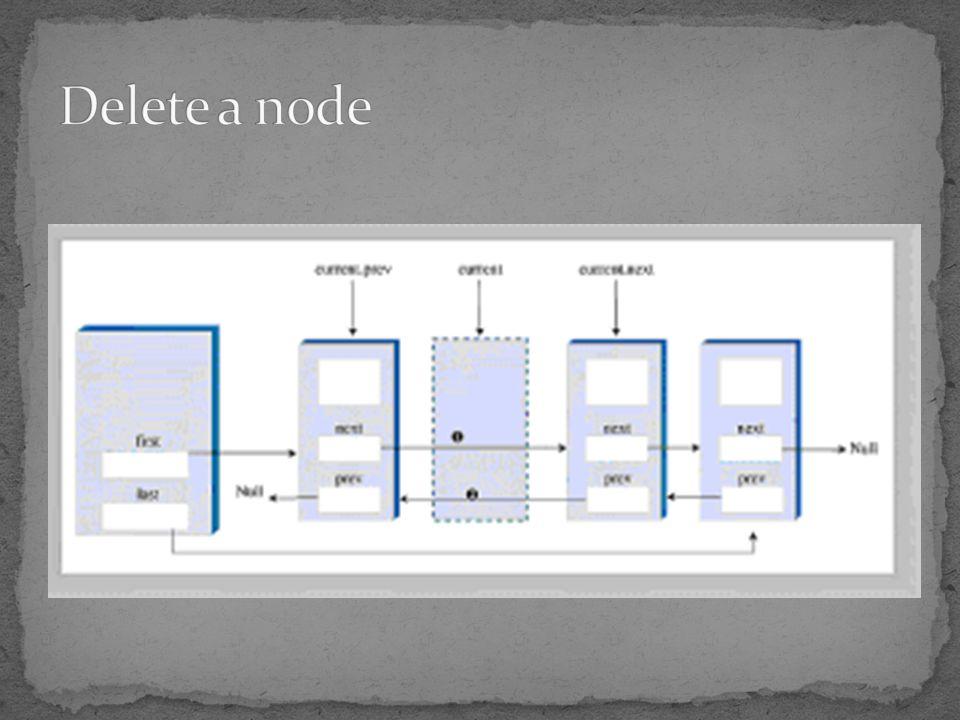 Delete a node