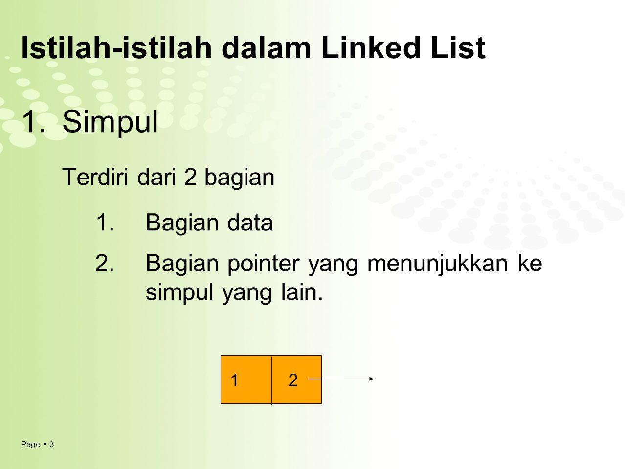 Istilah-istilah dalam Linked List