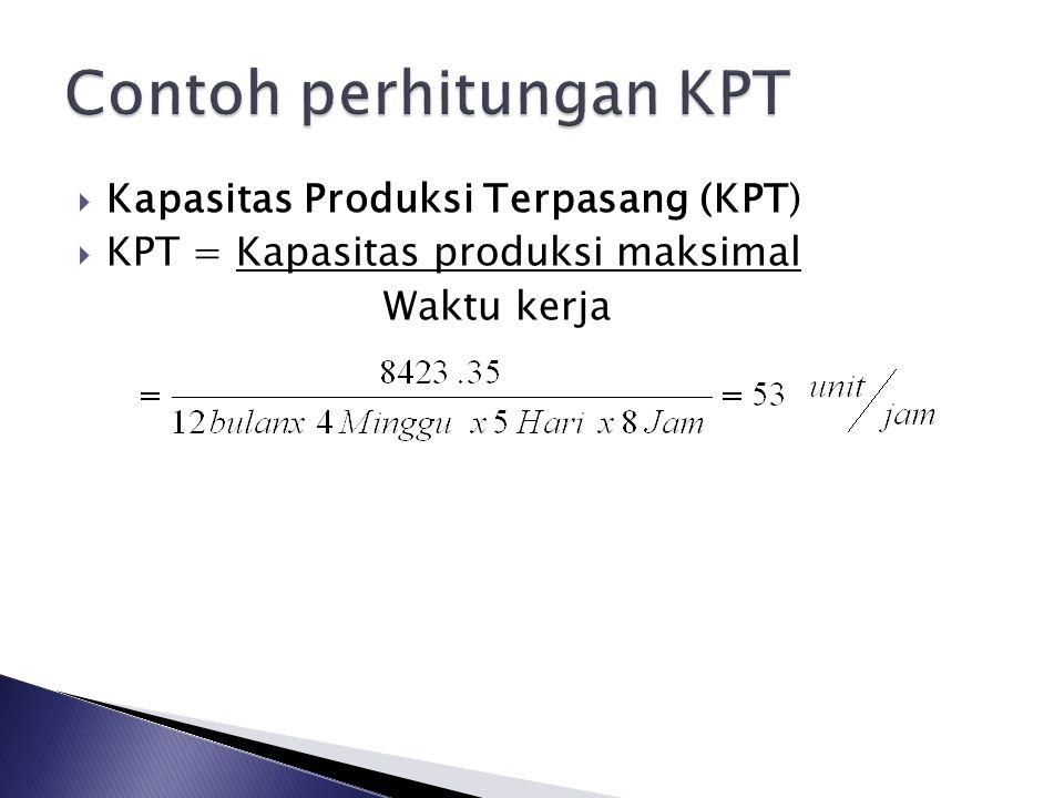 Contoh perhitungan KPT