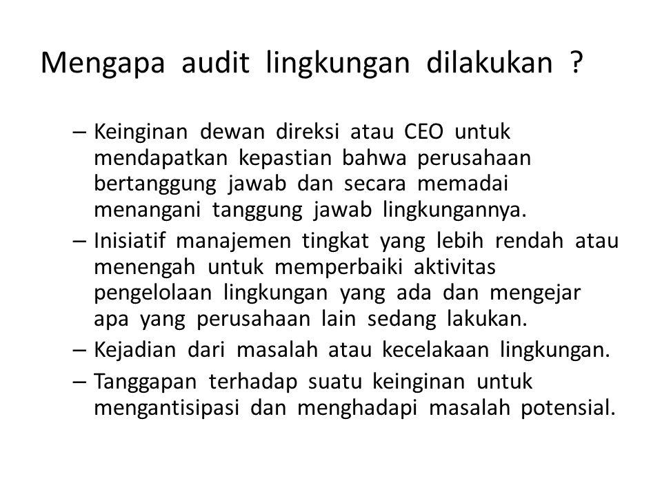 Mengapa audit lingkungan dilakukan