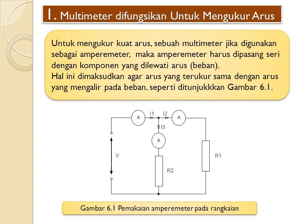 1. Multimeter difungsikan Untuk Mengukur Arus