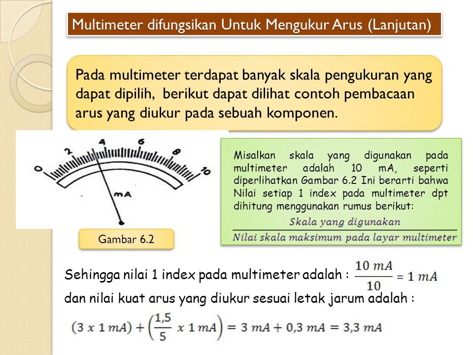 Multimeter difungsikan Untuk Mengukur Arus (Lanjutan)