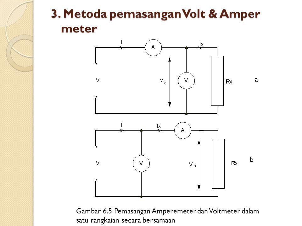 3. Metoda pemasangan Volt & Amper meter