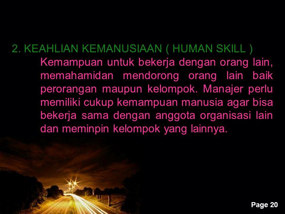 2. KEAHLIAN KEMANUSIAAN ( HUMAN SKILL )