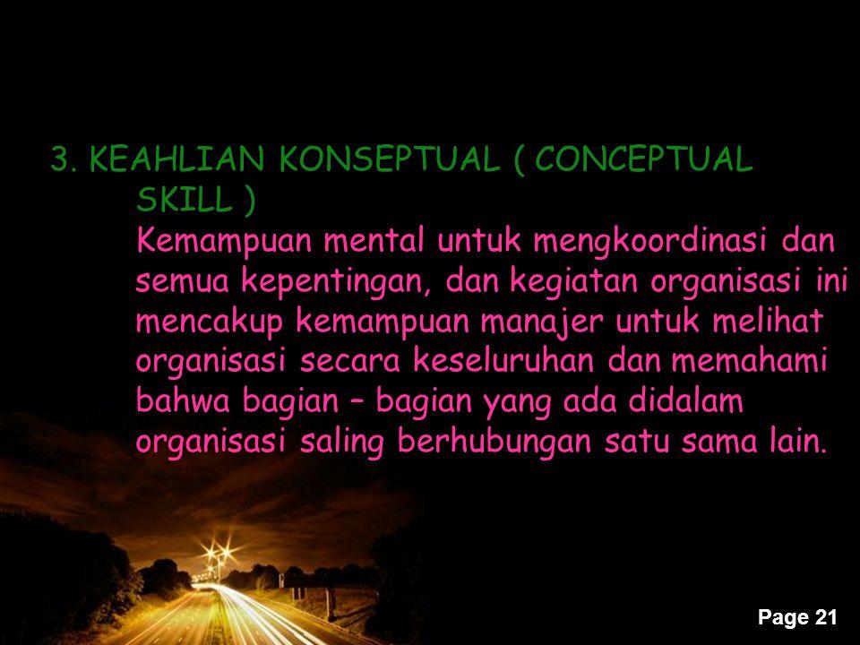 3. KEAHLIAN KONSEPTUAL ( CONCEPTUAL SKILL )