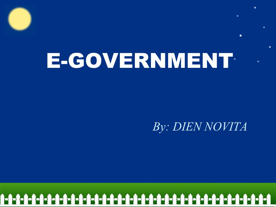 E-GOVERNMENT By: DIEN NOVITA