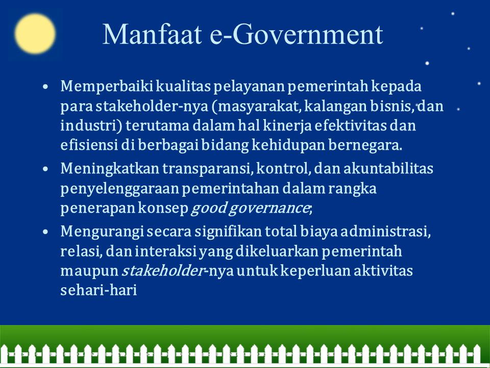 Manfaat e-Government