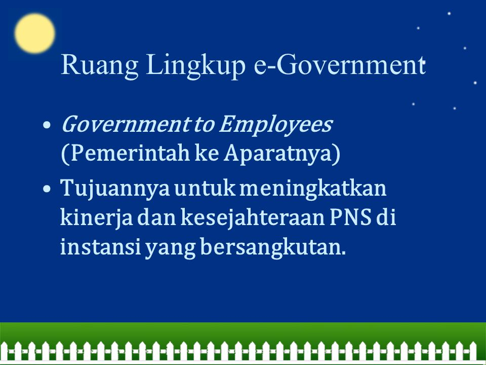 Ruang Lingkup e-Government