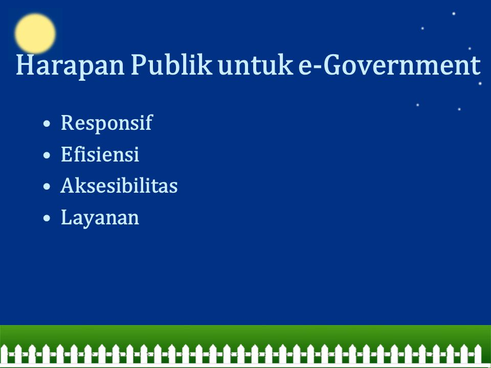 Harapan Publik untuk e-Government
