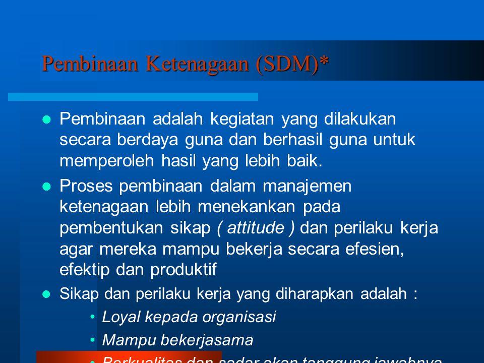 Pembinaan Ketenagaan (SDM)*