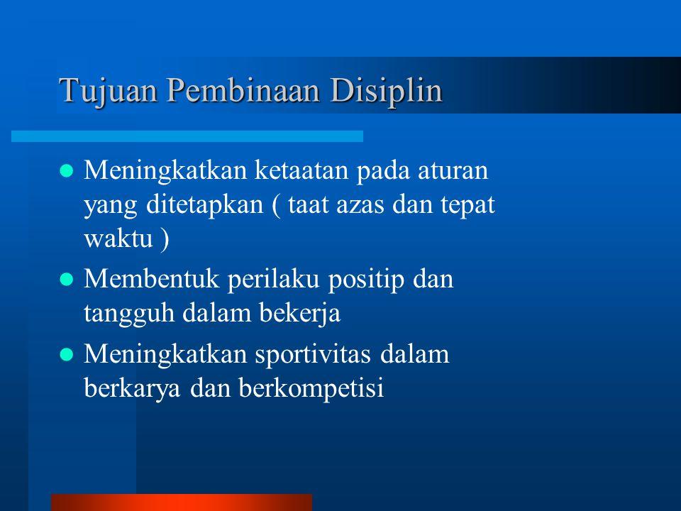 Tujuan Pembinaan Disiplin