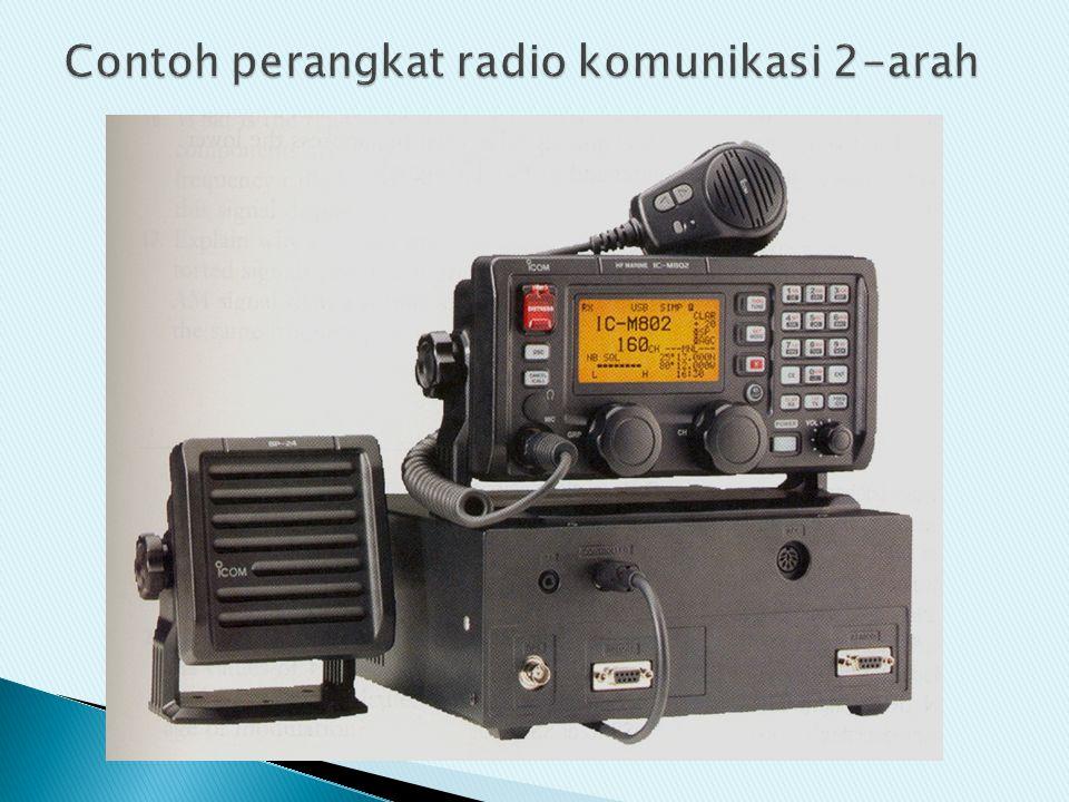 Contoh perangkat radio komunikasi 2-arah