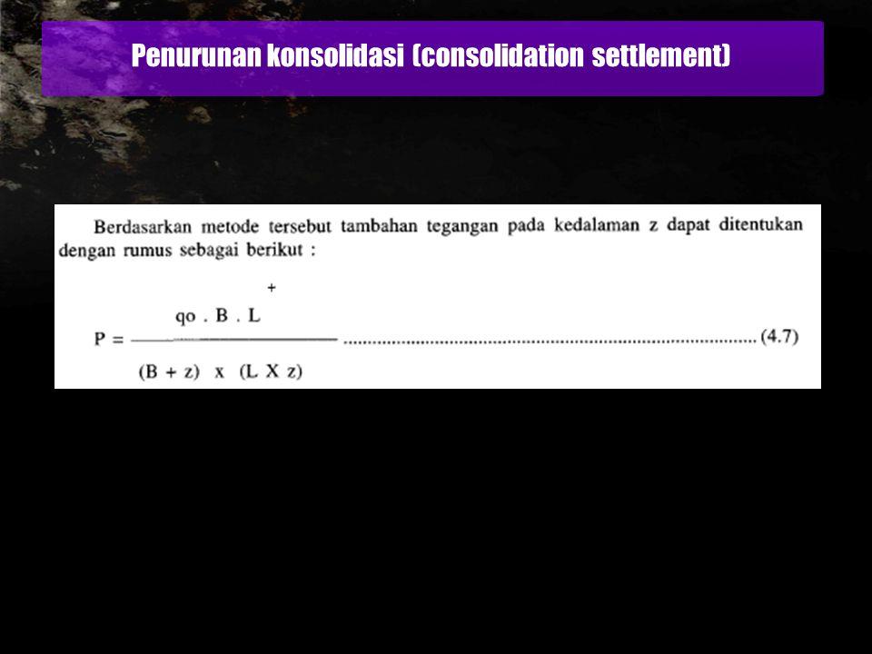 Penurunan konsolidasi (consolidation settlement)