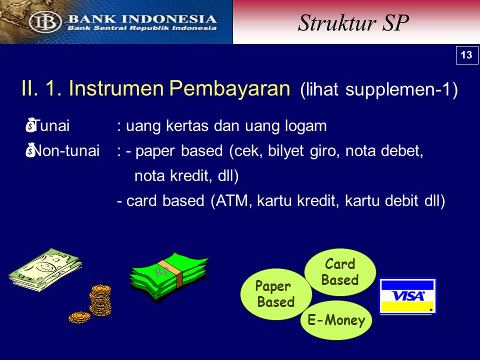 Struktur SP II. 1. Instrumen Pembayaran (lihat supplemen-1)
