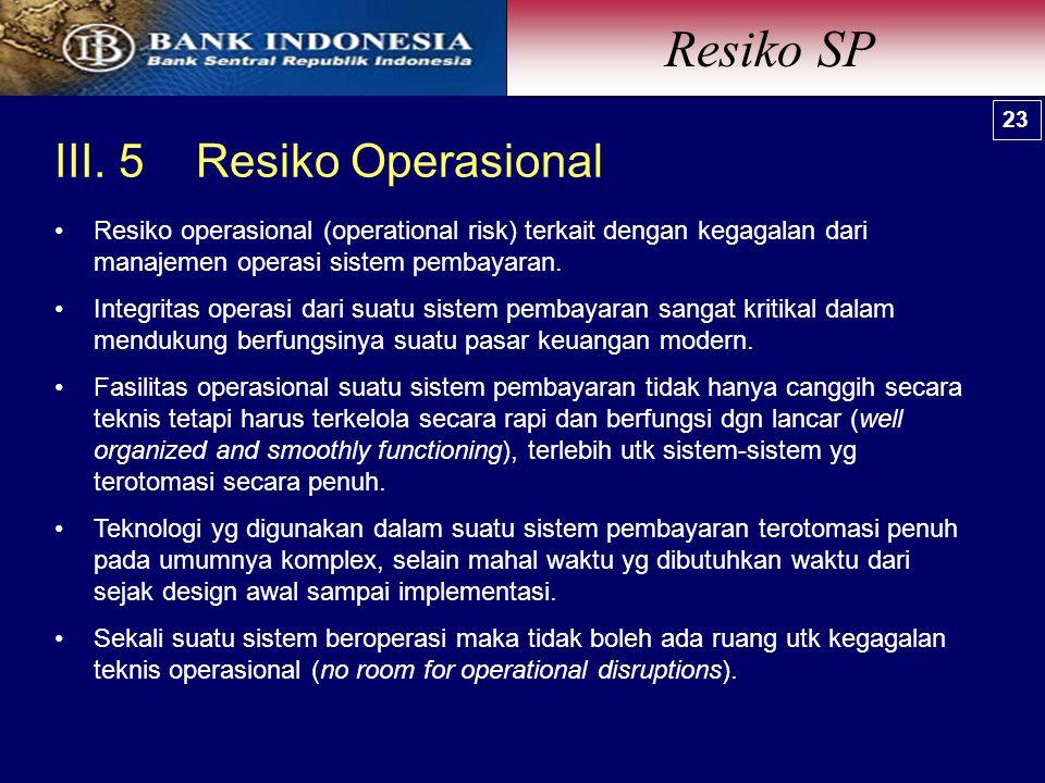 Resiko SP III. 5 Resiko Operasional