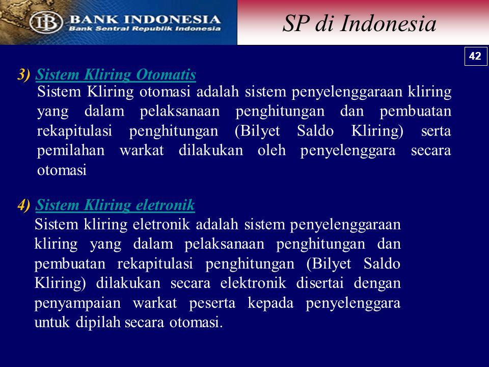 SP di Indonesia Sistem Kliring Otomatis